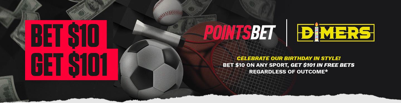 PointsBet Dimers 1st Birthday Offer