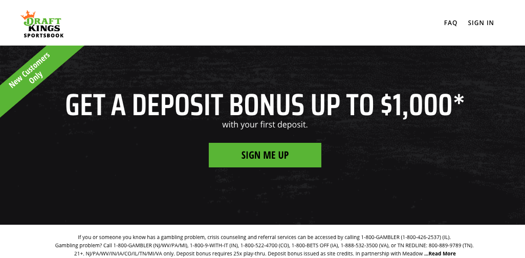 Part of the DraftKings Sportsbook registration process.